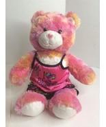 2009 Build a Bear Plush Endless Hugs Pink Orange Tie Dye Heart Belly And... - $19.79