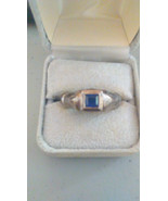 Artisian made Ring with square sapphire stone - $364.88