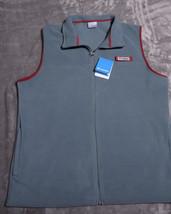 COLUMBIA MENS Full Zipped Harborside PFG Fleece VEST Size Large L Green ... - $47.36