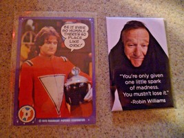 Robin Williams Quote Refrigerator Magnet and Mork Trading Card - $7.66