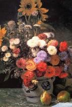 Flowers in a vase by Pierre-August Renoir - Art Print - $19.99+