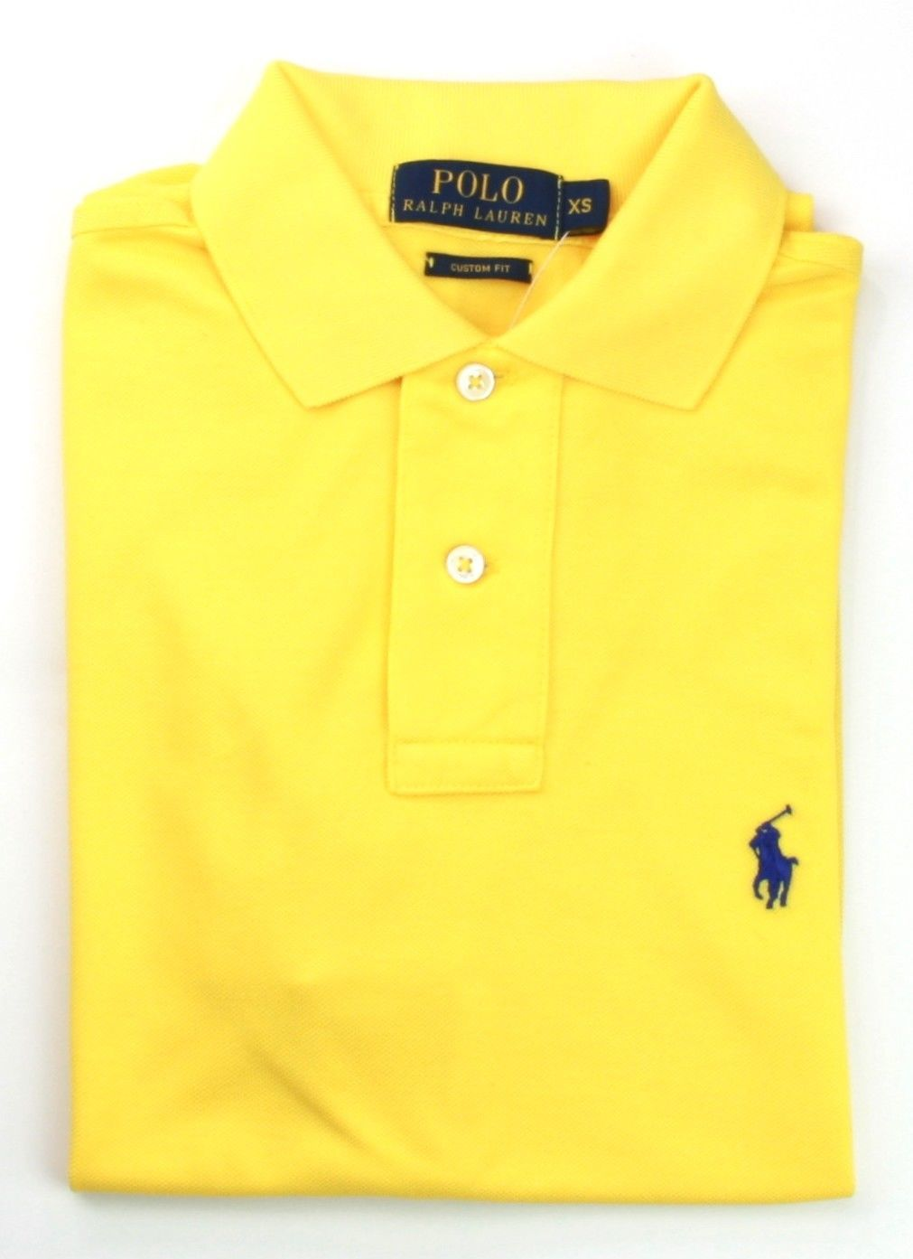 Ralph Lauren Mens Bright Yellow Polo Shirt Custom Fit Small RRP £85