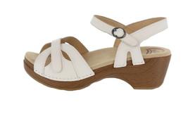 Dansko Leather Open Toe Adjustable Sandals Season White 40=9.5-10M NEW A... - $95.02