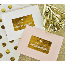 Will you be my Bridesmaid/Maid of Honor Labels Set of 9 Bridal Party Labels - ₨1,031.35 INR