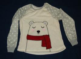 Polar Bear Girls Pajama Top XXL 18 New Long Sleeve Polka Dots Sleepwear - $10.88
