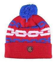 Crooks & Castles Royal Blue Orange Mens Chainlink Pom Beanie Winter Ski Hat image 2