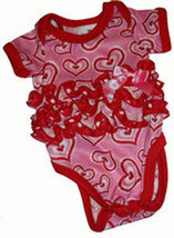 Preemie Girls Hearts Onesie Laura Dare 4-7 Pounds - $24.00