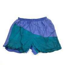 VINTAGE Revens Swim Short Trunks Size Medium Colorblock NYLON Shorts Bat... - $17.83