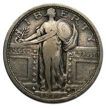 1917 Type 1 STANDING LIBERTY QUARTER COIN Lot# A 162