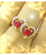 HAUNTED DUAL HEARTS RING UNION OF HEARTS HIGH LOVE MAGICK OFFERS ONLY 7 ... - $90,007.77