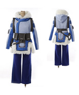 Overwatch Mei Ling Zhou Cosplay Costume Quilted Lining Gray Jacket - $246.63