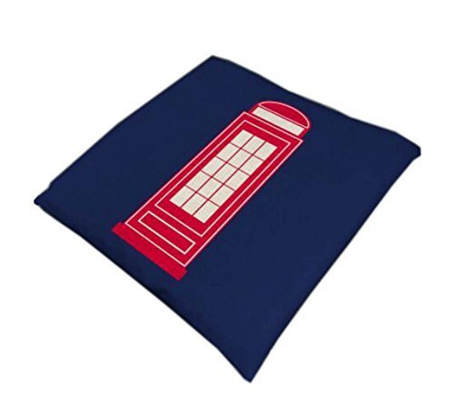 British Style Cotton Square Seasons Car Seat Cushions, Telephone Booth