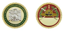 "MARINE CORPS 1ST RECRUIT DEPOT SAN DIEGO MCRD 1.75"" CHALLENGE COIN - $17.14"