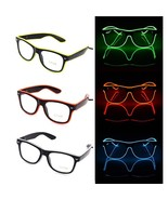 Light Glasses Rimmed Party Eyeglasses Wire Glow Shades Nightclub Neon Ey... - $7.99