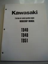 Kawasaki engines 2-stroke air-cooled gasoline workshop manual TD40 TD48 TD51 - $9.02