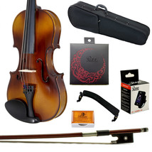 **GIFT PACKAGE** 3/4 Solid Wood Student Violin w Case Bow Rosin String T... - $75.99