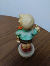 Boy with Horn and Horse Figurine W Germany #239 C Signed and Dated 1967 image 2