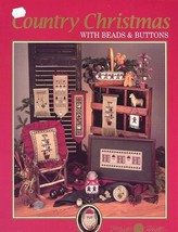 Country Christmas with Beads & Buttons Mill Hill Cross Stitch Pattern Booklet - $2.67