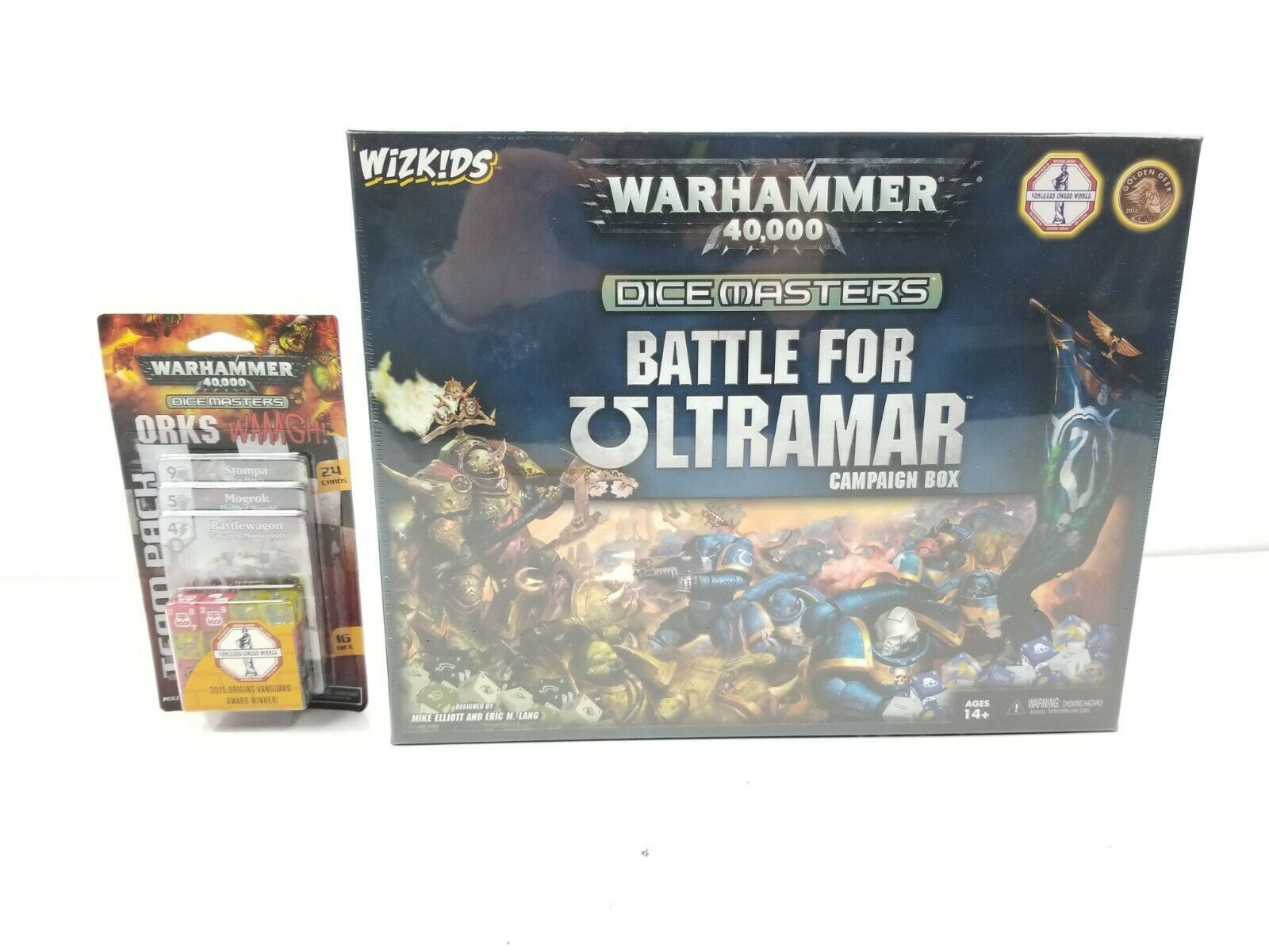 Warhammer 40,000 Dice Masters Battle for Ultramar & Orks WAAAGH! New BUNDLE - $34.95