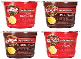 Idahoan Microwavable Instant Mashed Potatoes Variety Bundle: 2 Buttery Homestyle image 4