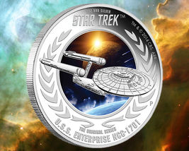 2015 Star Trek Proof  Silver 2 Coin Set Signed By William Shatner NGC PF70UC ER image 3