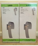 (x2) Good Lumens LED Outdoor Wall Mount Lantern Silver Finish #23615 NEW! - $59.95