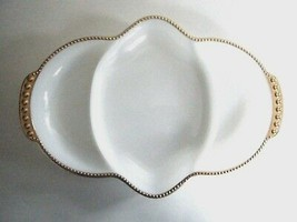 Anchor Hocking Fire King Golden Anniversary Divided Relish Dish Made In USA - $7.87
