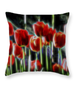 Tulips Graphic Glow, Throw Pillow, fine art, ho... - $41.99 - $69.99