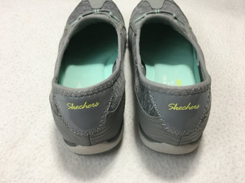 Skechers Womens 6.5 Relaxed Fit Breathe Easy Good Life Sneakers Shoes Gray Mint image 5