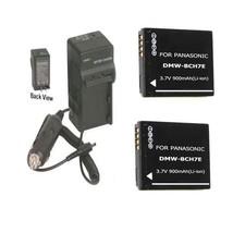 2 Batteries +Charger DMW-BCH7 DMW-BCH7E DMW-BCH7PP For Panasonic DMC-FP1 DMC-FP2 - $23.33