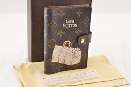 LOUIS VUITTON Monogram Agenda PM Keepall Day Planner Cover R20964 Auth 7219 - $280.00