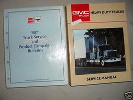1987 GMC Resistente Camion Servizio Negozio Manuale Set W Campagna Bulle... - $138.55