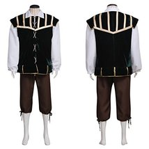 1791's lady Men's Medieval Pirate Mercenary Scottish Cotume Set Suit - $84.65