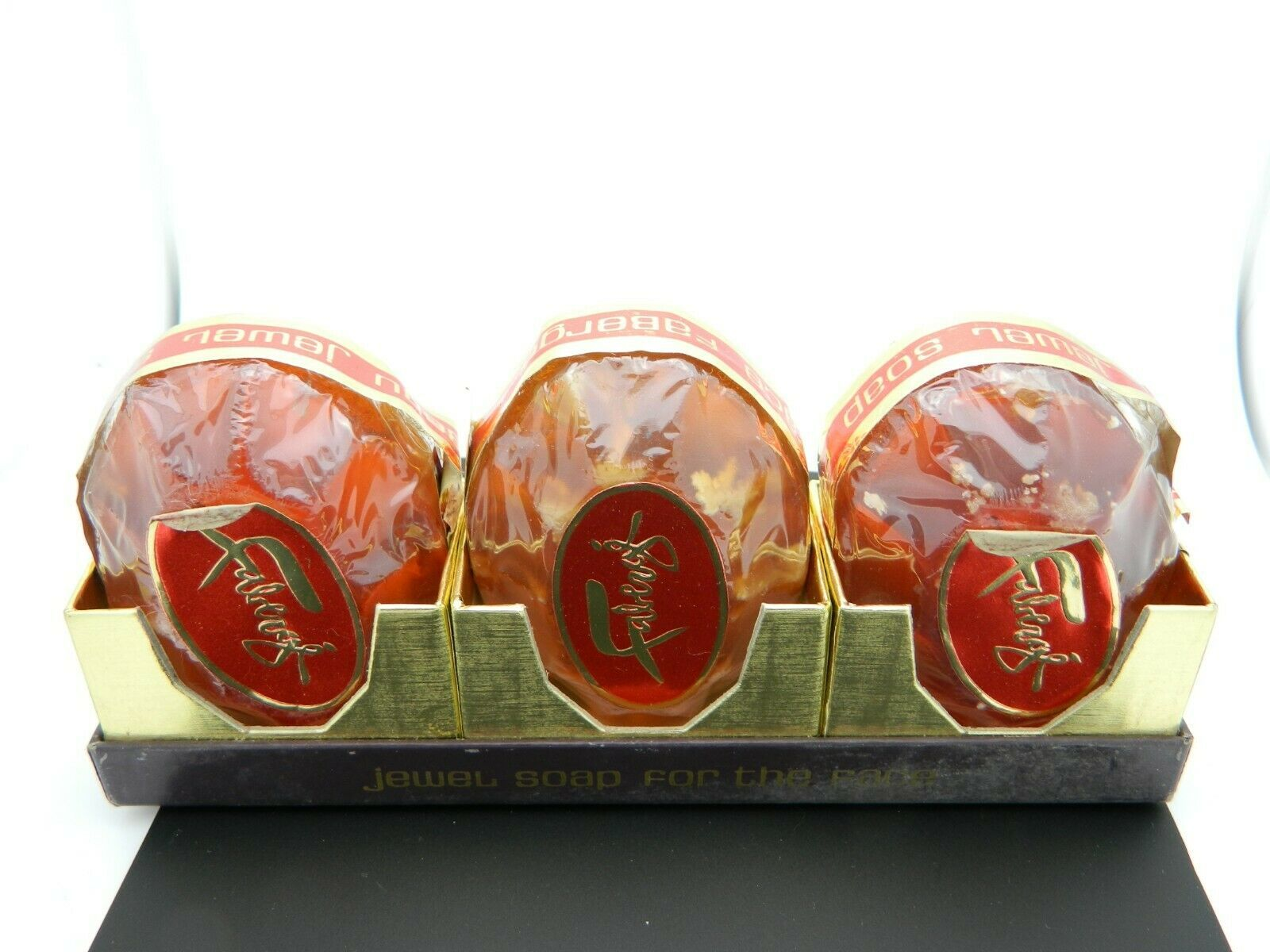 Faberge Flambeau Jewel Soap For The Face 3 Bars Vintage New Old Stock