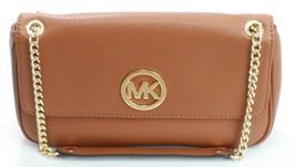 Michael Kors Leather Fulton Chain Brown Shoulder Bag Medium Handbag  - $219.14