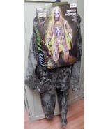 Halloween Costume Skeleton Zombie Large Kid Size 12 to 14 years Fun World 119X - $29.49