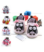 Baby Shoes, lovely owl shoes soft bottom - $17.99+