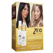 ZELO Smoothing Brazilian Keratin Hair Treatment Kit - Eliminates Frizz, Straight