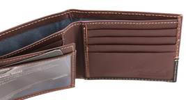 Timberland Men's Genuine Two Tone Leather Credit Card Billfold Commuter Wallet image 6