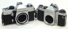 2 SLR M42 Film Camera Praktica LTL Pentax Honeywell AS IS For Parts - $34.20