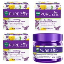 3 Vicks Pure Zzzs Soothing Aromatherapy Balm Calming Essential Oils 1.76 oz - $18.65