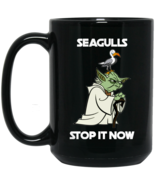 Yoda Seagulls Stop It Now BM15OZ 15 oz. Black Mug - $18.00
