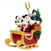 Disney's Santa Mickey and Minnie Sleigh Ornament, NEW - $28.00