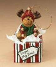 "Boyds Holiday ""Jingle My Bells"" Resin Moose Ornament- #25520-  New- Retired - $29.99"