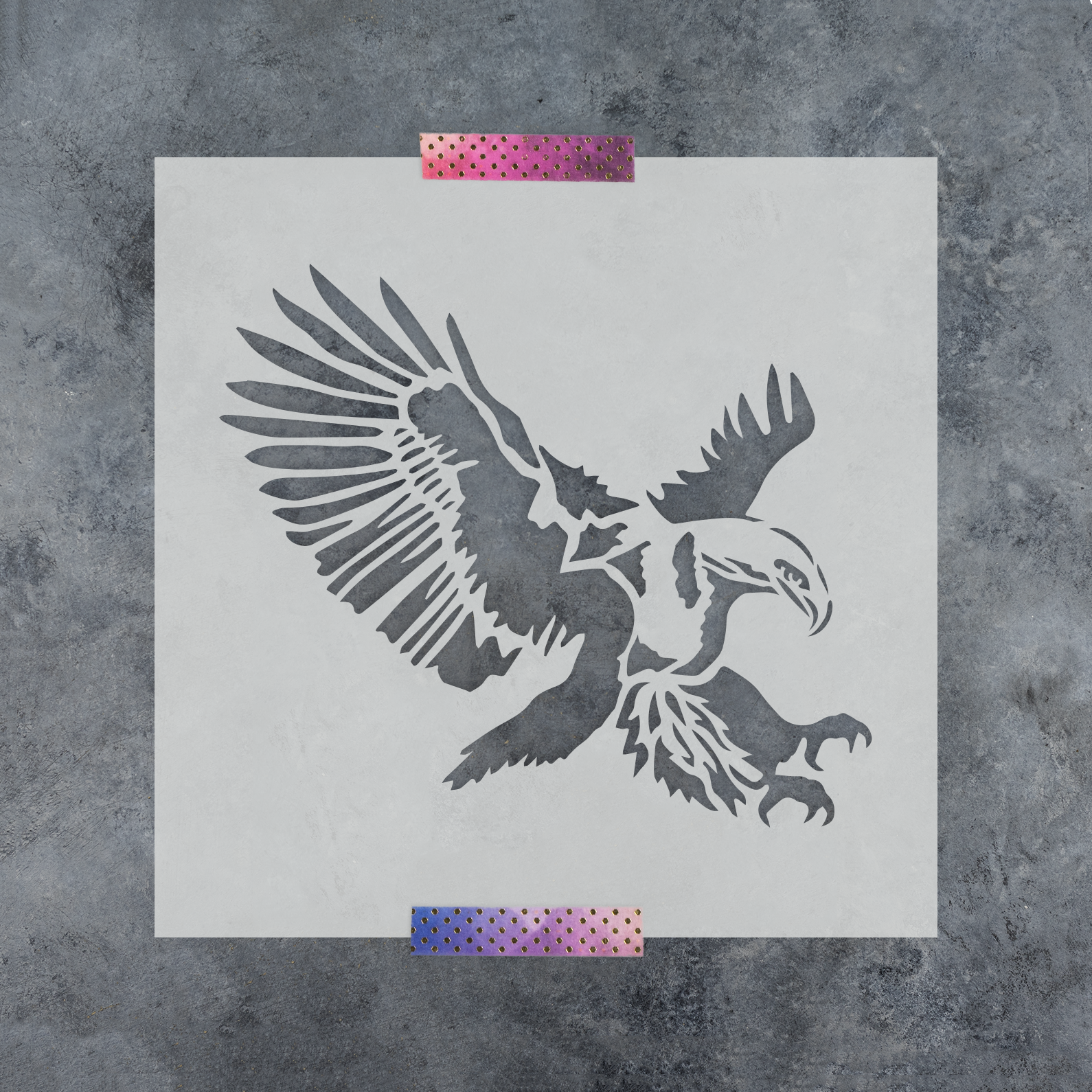 Eagle Stencil - Reusable Stencils of an Eagle Available in Small & Large Sizes