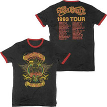 Aerosmith-Aeroforce One 1993 Tour-Retro-X-Large Ringer  T-shirt - $21.28