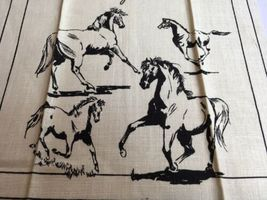 VTG NOS Kay Dee MORGAN HORSE Linen Kitchen Tea Towel image 4