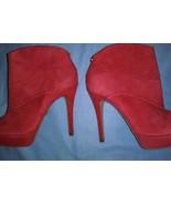 Jorge Bischoff Red Zip Up Ankle Booties Sexy  Sz 35 - $51.47