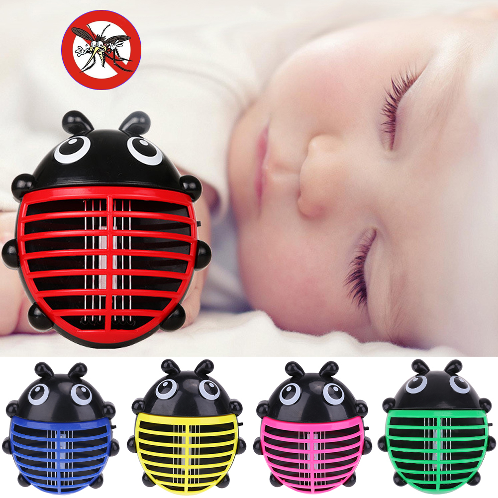 (yellow)Cartoon Beetle Shaped Electric Mini Mosquito Lamp LED Anti Mosquito Repe