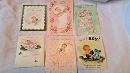 Vintage Baby Greetings Hallmark Norcross 1950's - $12.95